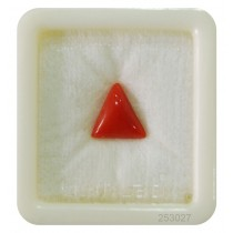 Natural Red Coral Triangular 4+ 2.55ct