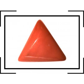Certifiedl Coral Triangular 7+ 4.55ct