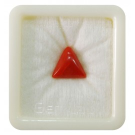 Certified Red Coral Premium 5+ 3.4ct