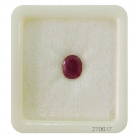 African Ruby Gemstone Fine 2+ 1.35ct