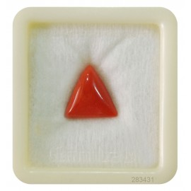 Natural Certified Coral Triangular 7+ 4.4ct