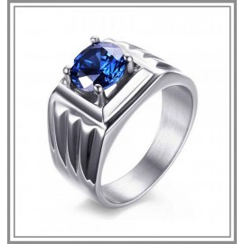Certified Blue Sapphire 18K White Gold