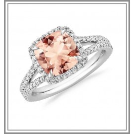 Morganite Fortuna Ring 18k White Gold